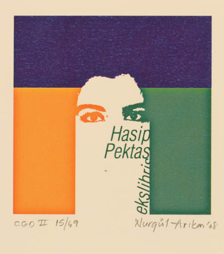 Exlibris by Nurgül Arikan from Turkey for Hasip Pektas - Abstract