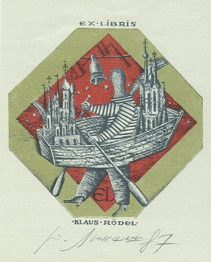 Exlibris by A. Ljuksina from Russia for Klaus Rödel - Maritime