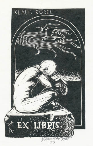 Exlibris by Andrzej Kowalski from Poland for Klaus Rödel - Literature