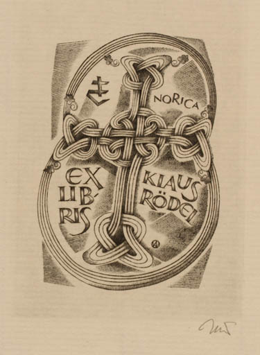 Exlibris by Wojciech Jakubowski from Poland for Klaus Rödel - Ornament