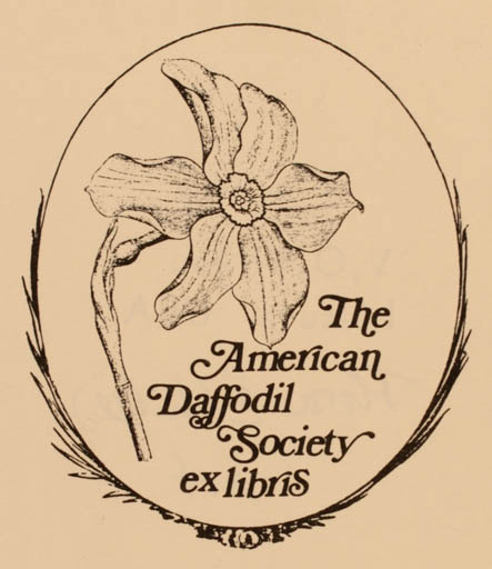 Exlibris by Vytautas O. Virkau from USA for ? The American Daffodil Society - Flower Flora