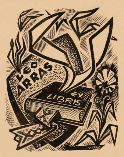 Exlibris by Johannes Juhansoo from Estonia for Leo Arras - Book