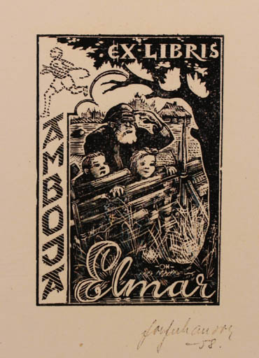 Exlibris by Johannes Juhansoo from Estonia for Amboja Elmar - Child