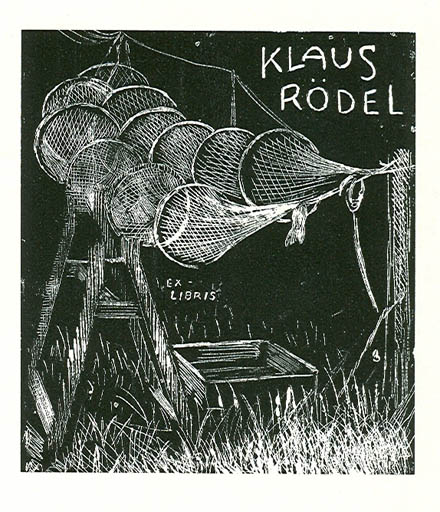 Exlibris by Arne Olsen from Denmark for Klaus Rödel - Maritime