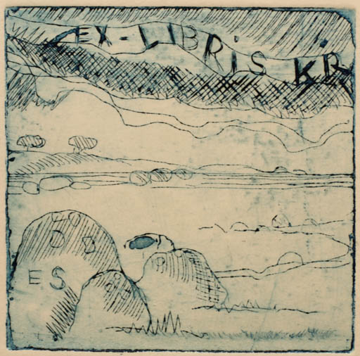 Exlibris by Erik Skjoldborg from Czech Republic for Klaus Rödel - Scenery/Landscape