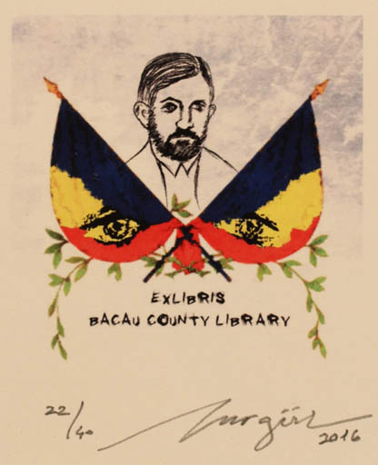 Exlibris by Nurgül Arikan from Turkey for Bacau County Library -