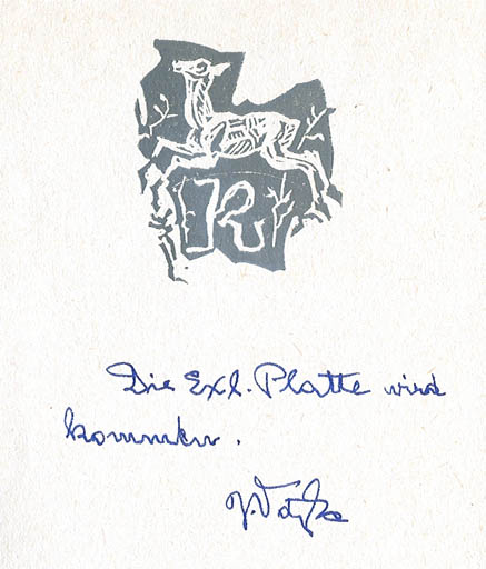 Exlibris by Jaroslav Vodrazka from Czechoslovakia for Klaus Rödel - Fauna