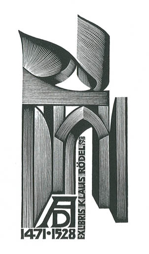 Exlibris by Anatolij Kalaschnikow from Soviet Union for Klaus Rödel - Architecture