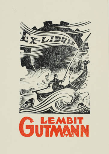 Exlibris by Johannes Juhansoo from Estonia for Lembit Gutmann - Hobby Maritime