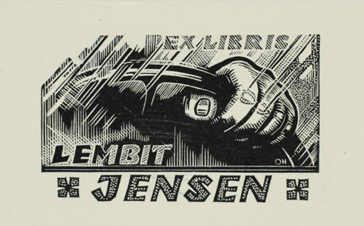 Exlibris by Johannes Juhansoo from Estonia for Lembit Jensen - Car Technology