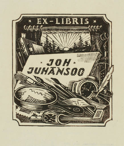 Exlibris by Johannes Juhansoo from Estonia for Johannes Juhansoo - Working Art