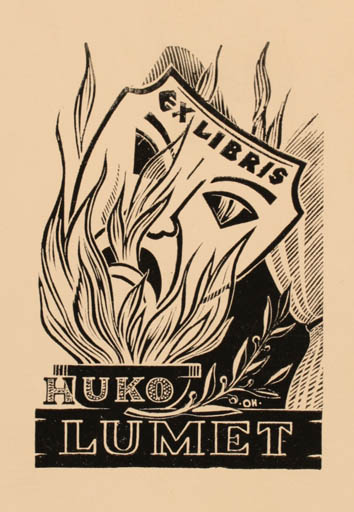 Exlibris by Johannes Juhansoo from Estonia for Huko Lumet - Theater/Cirkus