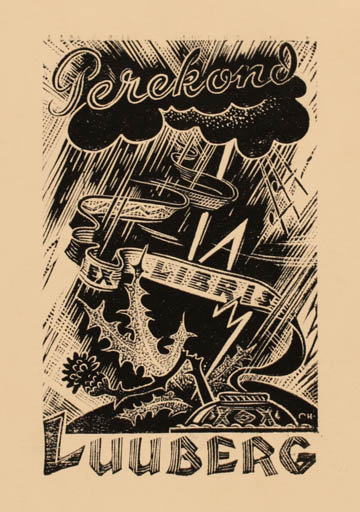 Exlibris by Johannes Juhansoo from Estonia for Perekond Luuberg - Scenery/Landscape