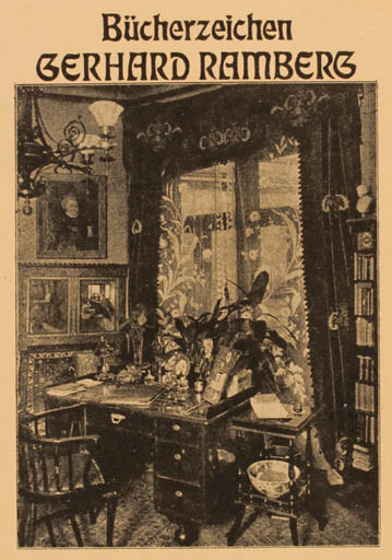 Exlibris by L.V Angerer from Germany for Gerhard Ramberg - Interior