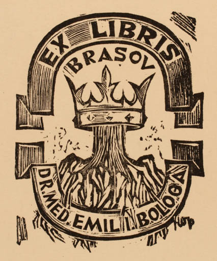 Exlibris by ? Unbekannt from Romania for Dr. Emil I. Bologa -